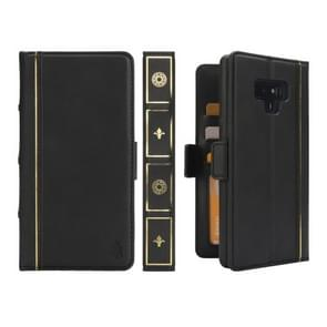 Bible Style Business Horizontal Flip Leather Case for Galaxy Note9, with Card Slots & Photo Frame & Holder & Wallet (Black)