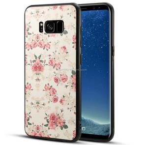 For Galaxy S8 TPU + PC Peony Printed Pattern Surface Protective Back Case