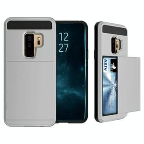 For Galaxy S9+ Detachable Dropproof Protective Back Cover Case with Slider Card Slot(Grey)