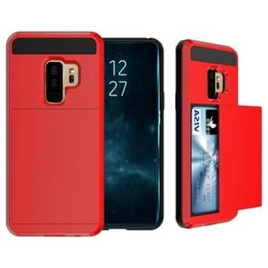 For Galaxy S9+ Detachable Dropproof Protective Back Cover Case with Slider Card Slot(Red)