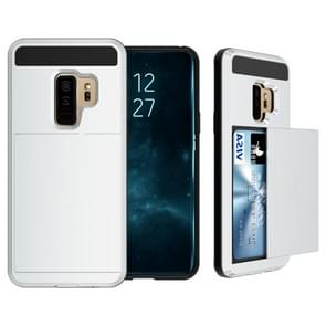 For Galaxy S9+ Detachable Dropproof Protective Back Cover Case with Slider Card Slot(Silver)