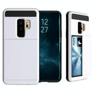 For Galaxy S9+ Detachable Dropproof Protective Back Cover Case with Slider Card Slot(White)