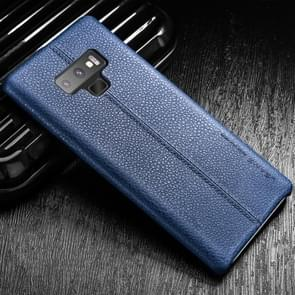 USAMS US-BH429  Litchi Texture Soft PU Case for Galaxy Note9 (Blue)