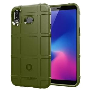 Shockproof Protector Cover Full Coverage Silicone Case for Samsung Galaxy A6s (Army Green)