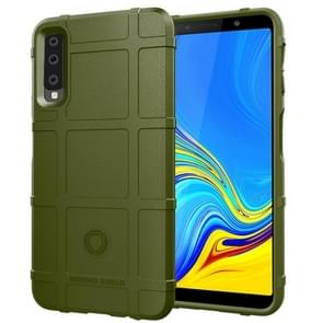 Shockproof Protector Cover Full Coverage Silicone Case for Galaxy A7 2018 (Army Green)