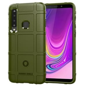 Shockproof Protector Cover Full Coverage Silicone Case for Galaxy A9 (2018) (Army Green)