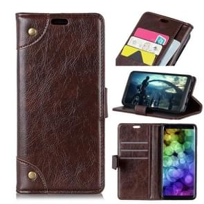 Copper Buckle Nappa Texture Horizontal Flip Leather Case for Samsung Galaxy S10, with Holder & Card Slots & Wallet(Coffee)