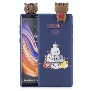 3D Paster Stacked Cat Pattern TPU Protective Case for Galaxy Note9
