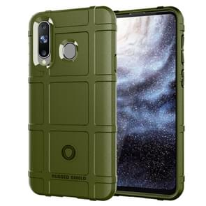 Shockproof Protector Cover Full Coverage Silicone Case for Galaxy A8s(Army Green)