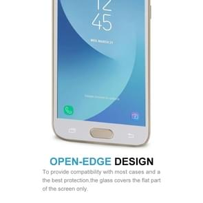 For Galaxy J3 (2017) (EU Version) 0.26mm 9H Surface Hardness 2.5D Curved Silk-screen Full Screen Tempered Glass Screen Protector (White)