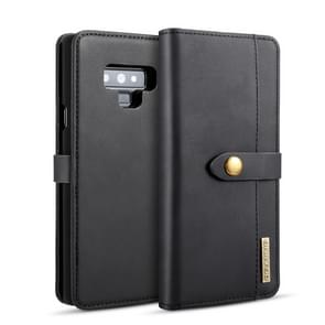 DG.MING Lambskin Detachable Horizontal Flip Magnetic Case for Galaxy Note9, with Holder & Card Slots & Wallet(Black)