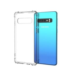 Transparent Shockproof  TPU Case for Galaxy S10(Transparent)