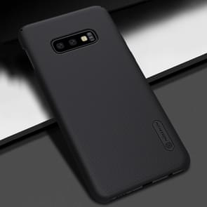 NILLKIN Frosted concaaf-convexe textuur PC Case voor Galaxy S10e(Black)