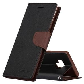 MERCURY GOOSPERY FANCY DIARY Horizontal Flip Leather Case for Galaxy Note 9, with Holder & Card Slots & Wallet(Black)