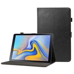 ENKAY Crazy Horse textuur horizontale Flip leren Case voor Galaxy Tab een 10.5 T590 / T595  met kaartsleuven & houder & slaap / Wake-up Function(Black)