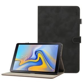 ENKAY Retro matte textuur horizontale Flip leren Case voor Galaxy Tab een 10.5 T590 / T595  met houder & slaap / Wake-up functie (zwart)