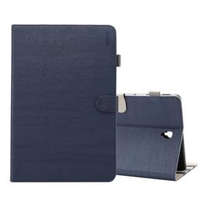 ENKAY Wood Texture Horizontal Flip Leather Case for Galaxy Tab S4 10.5 T830 / T835, with Holder & Sleep / Wake-up Function (Dark Blue)