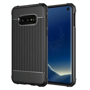 Club Texture Shockproof TPU Case for Galaxy S10e (Black)