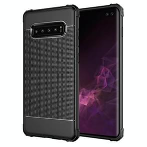 Club Texture Shockproof TPU Case for Galaxy S10+ (Black)