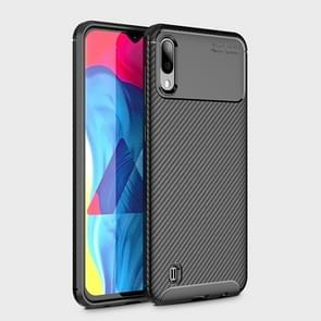 Beetle Series Carbon Fiber Texture Shockproof TPU Case for Galaxy M10(Black)