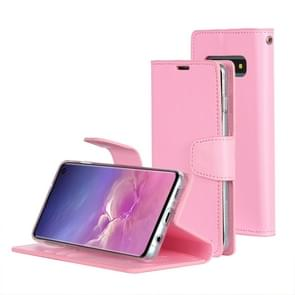 MERCURY GOOSPERY SONATA DIARY Horizontal Flip Leather Case for Galaxy S10, with Holder & Card Slots & Wallet (Pink)