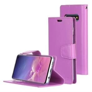 MERCURY GOOSPERY SONATA DIARY Horizontal Flip Leather Case for Galaxy S10, with Holder & Card Slots & Wallet (Purple)