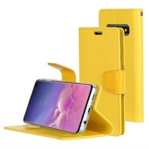 MERCURY GOOSPERY SONATA DIARY Horizontal Flip Leather Case for Galaxy S10, with Holder & Card Slots & Wallet (Yellow)