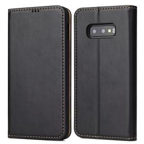 Horizontal Flip PU Leather Case for Galaxy S10e, with Holder & Card Slot & Wallet(Black)