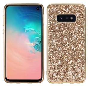 Glitter Powder Shockproof TPU Protective Case for Galaxy S10 (Gold)