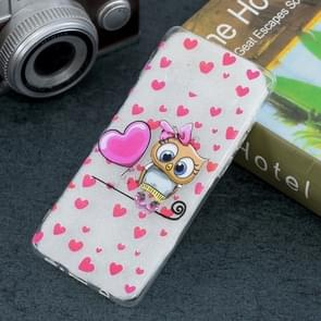 Love Owl Pattern Transparent TPU Protective Case for Galaxy S10