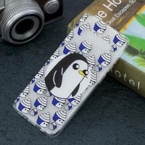 Penguin Pattern Transparent TPU Protective Case for Galaxy S10