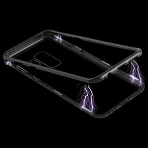 Magnetic Metal Frame Tempered Glass Case for Galaxy S9+(Black)