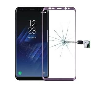 For Galaxy S8 / G9500 0.3mm 9H Surface Hardness 3D Curved Surface Silk-screen Full Screen Tempered Glass Screen Protector(Purple)