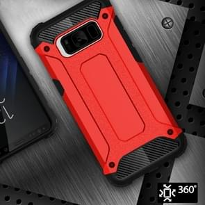 For Galaxy S8 Rugged Armor TPU + PC Combination Case(Red)