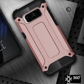 Voor Galaxy S8 ruige Armor TPU + PC combinatie Case (Rose goud)
