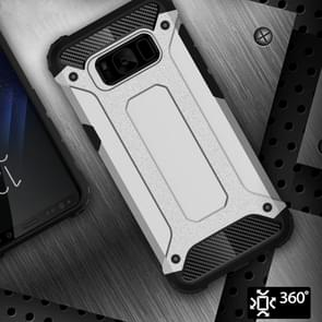 Voor Galaxy S8 ruige Armor TPU + PC combinatie Case(Silver)