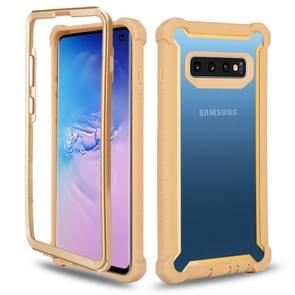 Four-corner Shockproof All-inclusive Transparent Space Case for Galaxy S10e (Gold)