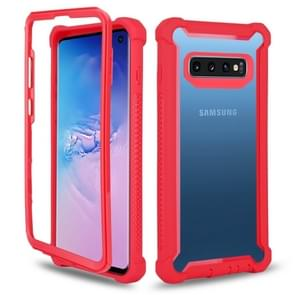 Four-corner Shockproof All-inclusive Transparent Space Case for Galaxy S10e (Red)