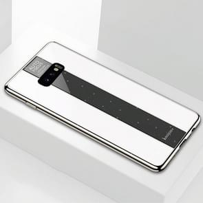 Electroplated Mirror Glass Case for Galaxy S10e(White)