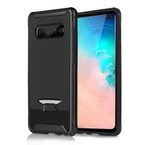 TPU + PC submodule textuur beschermende back cover Case voor Galaxy S10 + (zwart)