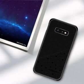 PINWUYO volledige waterdicht slagvast PC + TPU + PU Case voor Galaxy S10e (zwart)