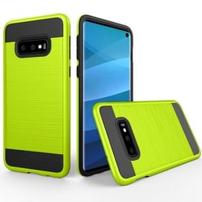 Brushed Texture PC + TPU Protective Case for Galaxy S10e(Green)