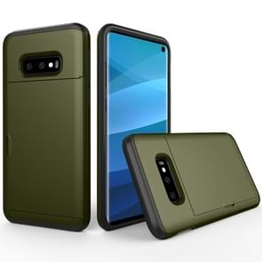 Shockproof Rugged Armor Protective Case for Galaxy S10e, with Card Slot(Army Green)