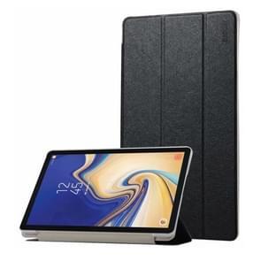 ENKAY Silk Texture Horizontal Flip PU Leather Case for Galaxy Tab S4 10.5 / T835, with Three-folding Holder & Sleep / Wake-up Function(Black)