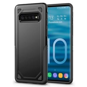 Shockproof Rugged Armor Protective Case for Galaxy S10 (Black)