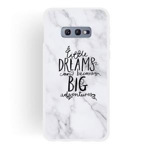 Dream Text Matte Semi-transparent TPU Marble Phone Case for Galaxy S10e