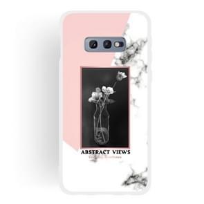 Vase Pattern Matte Semi-transparent TPU Marble Phone Case for Galaxy S10e