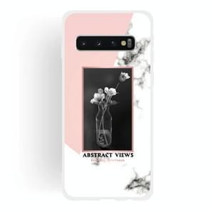 Vase Pattern Matte Semi-transparent TPU Marble Phone Case for Galaxy S10 Plus