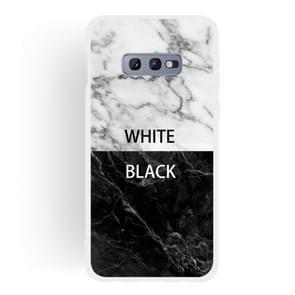 Zwart en wit tekst mat semi-transparante TPU marmer mobiele telefoon geval voor Galaxy S10e