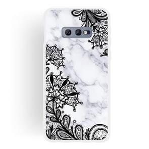 Kant bloem mat semi-transparante TPU marmer mobiele telefoon geval voor Galaxy S10e